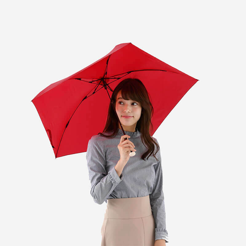 Amvel pentagon72 超輕雨傘 - 紅色