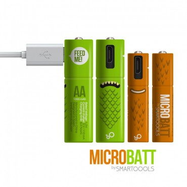 MICROBATT 怪獸USB充電電池 AA 2 粒裝