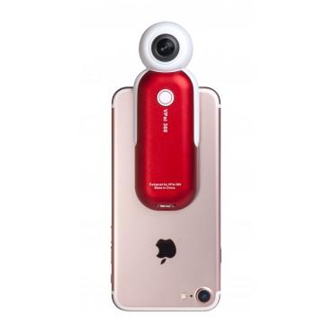 VRCam X2 360° Lightning 全景相機(紅色)