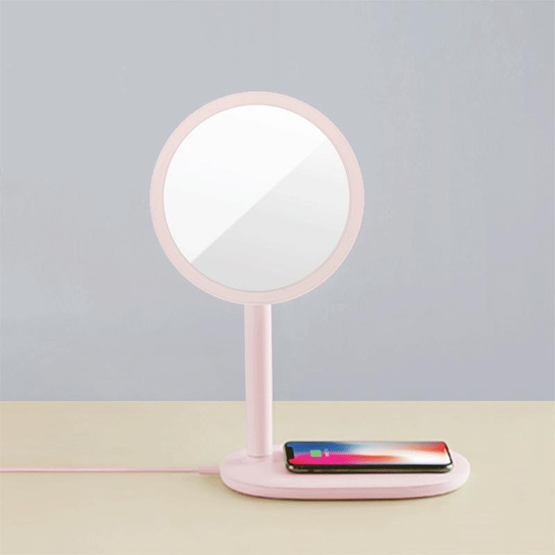 emoi 3合1快充LED高顯色化妝鏡枱燈 (粉紅色)