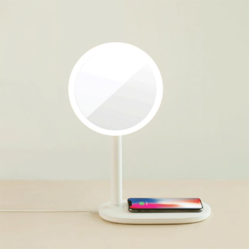 emoi 3合1快充LED高顯色化妝鏡枱燈 (米白色)