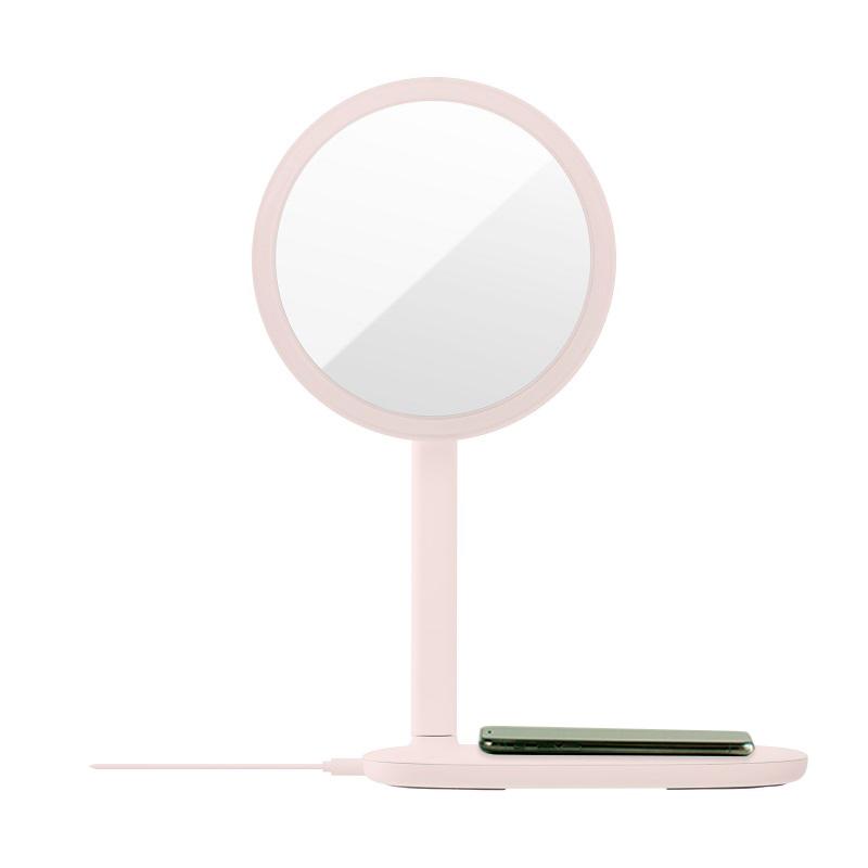 emoi 快速無線充電LED鏡枱燈 (粉紅色)