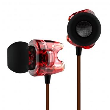 天天動聽 T1 雙動圈入耳式耳機 - 紅色