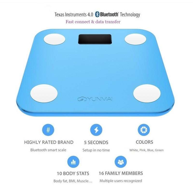 YUNMAI Mini 10合1 智能電子磅 - 國際版 (藍色)
