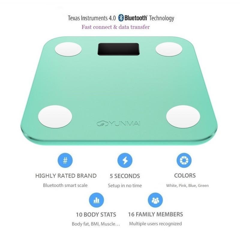 YUNMAI Mini 智能10合1體脂磅 - 國際版 (綠色)