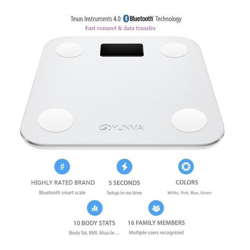 YUNMAI Mini 10合1 智能電子磅 - 國際版 (白色)